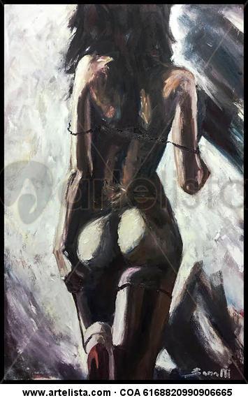 Ella Canvas Oil Figure Painting