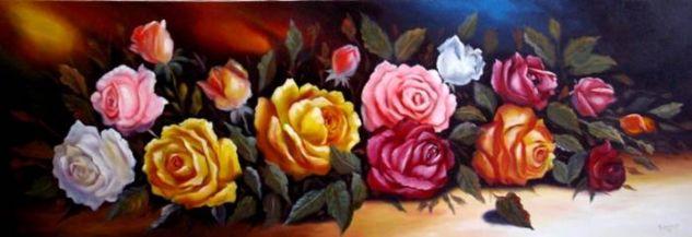 FLORES Óleo Lienzo Floral