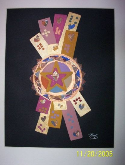 Mosaico De Amor Acrílico Cartulina