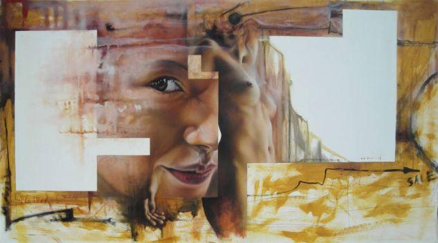 de la serie un mundo habitable Figure Painting Acrylic Canvas