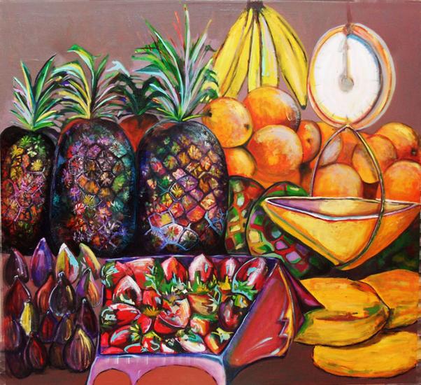 Mercado de Frutas Lienzo Bodegones Óleo