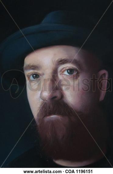 "Cabeza masculina"" Portrait Pastel Paper"