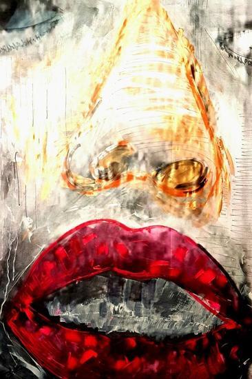 Les lévres de Chayna Retrato Acrílico Otros