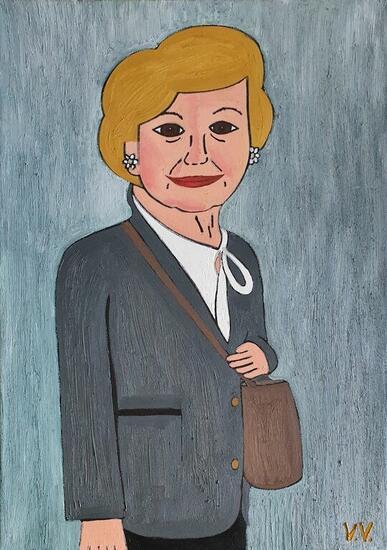 La tita Paqui Retrato Óleo Lienzo