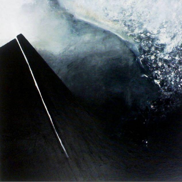 Pulsión V (Blanco y negro) Lienzo Acrílico Paisaje