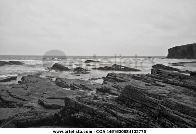 Océano Atlántico 15 Blanco y Negro (Digital) Naturaleza