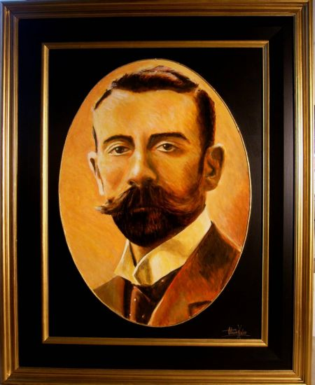 Joaquin 1887 Acrílico Tabla Retrato