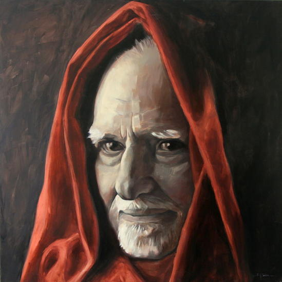 Mario Monicelli Lienzo Óleo Retrato