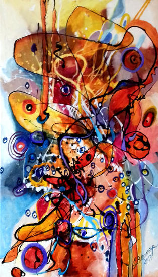 abstract Gradina cu melci Lienzo Óleo Otros