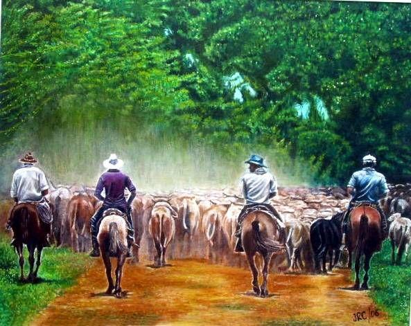 Arriando el ganado juan ram n cerusico - Cuadros de vacas ...