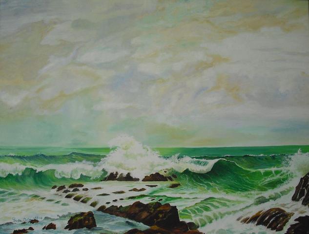 mar de Galicia Otros Óleo Lienzo