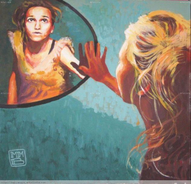Lucía a través del espejo Óleo Lienzo Paisaje