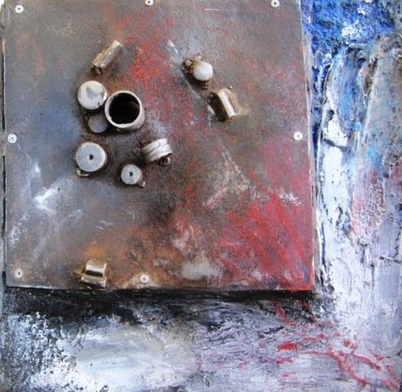 SERIE: AL FINAL DE LA TARDE 4-12 Metal Abstracta