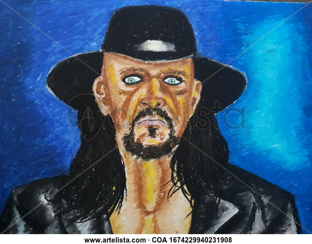 Undertaker Portrait Pastel Card
