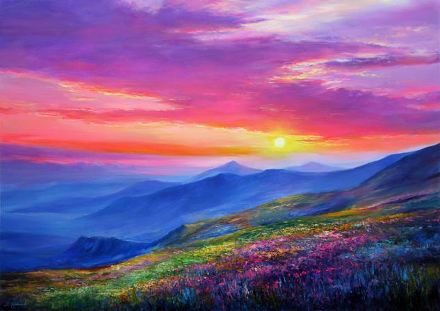 Dream Landscape IV Tabla Óleo Paisaje