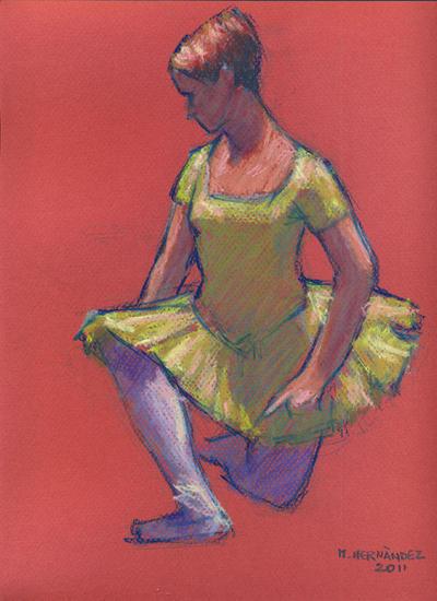 Bailarina Figura Pastel Papel