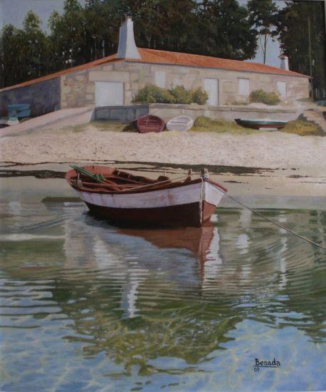 A Barcela Lienzo Óleo Marina