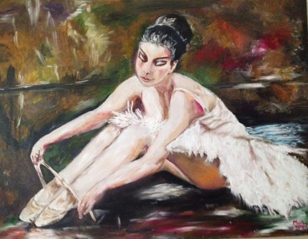Bailarina  Lienzo Óleo Figura