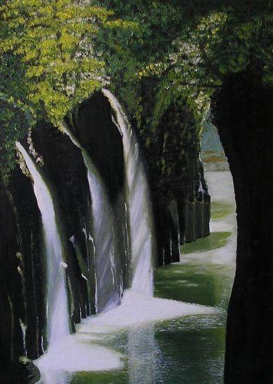Cascada Óleo Lienzo Paisaje