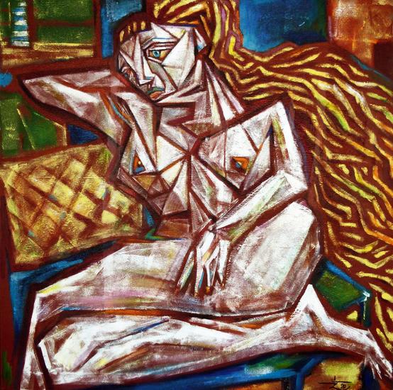 el sueño del faro Figure Painting Oil Canvas