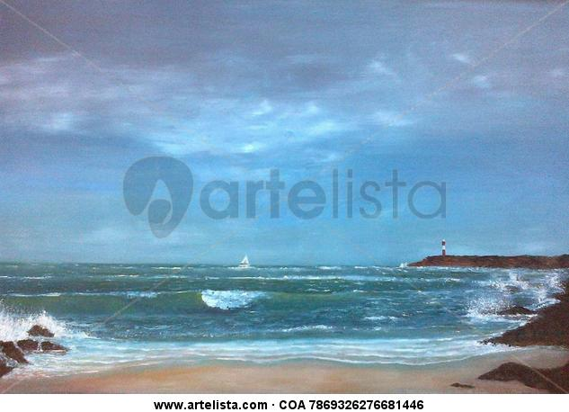 la cala Lienzo Óleo Marina