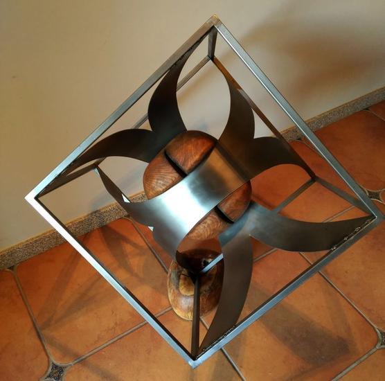 Tiempo y espacio Metal Abstracta