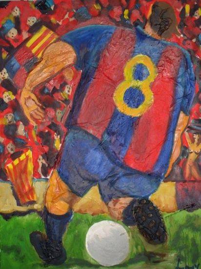 Barça Óleo Tabla Deportes
