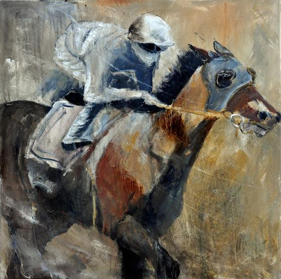 Horse race Lienzo Óleo Animales