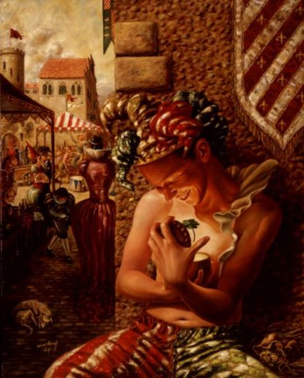 El Arlequin y la Fortuna Oil Canvas Nude Paintings