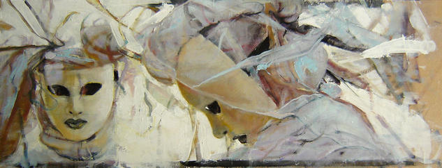 De frente y de Perfil Panel Oil Figure Painting