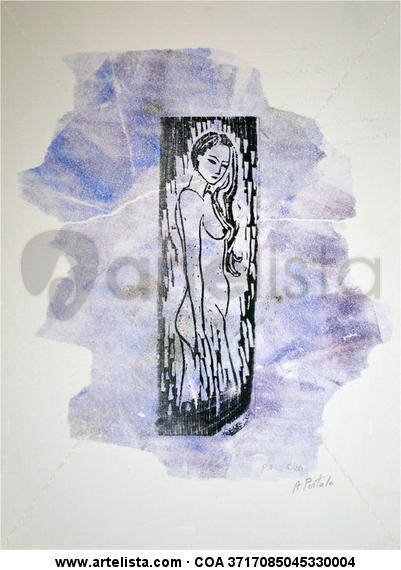 Desnudo 1 Xilografía