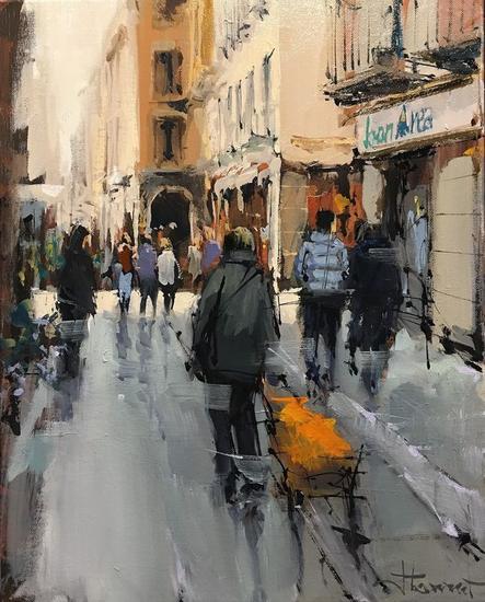 compras en sabado Canvas Oil Figure Painting