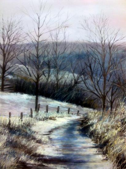 La última nevada Papel Pastel Paisaje