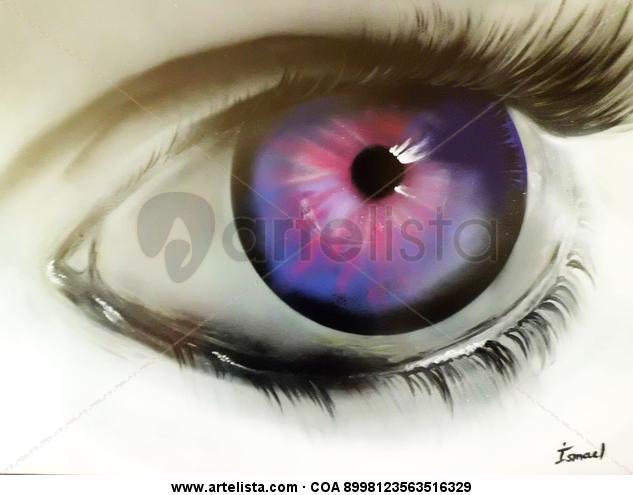 Magic Eye Cartulina Grafito Retrato