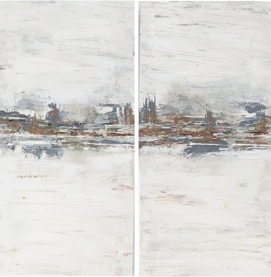 Paisaje abstracto 014 Paisaje Acrílico Lienzo