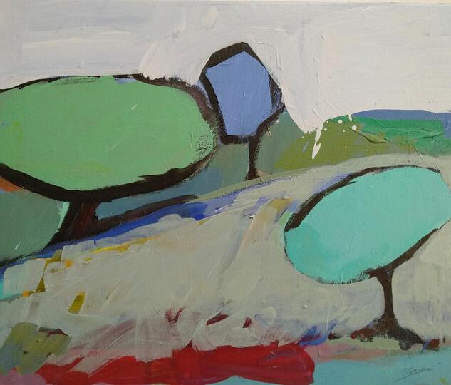 ÁRBOLES DE MAYO / 1 Landscaping Acrylic Canvas