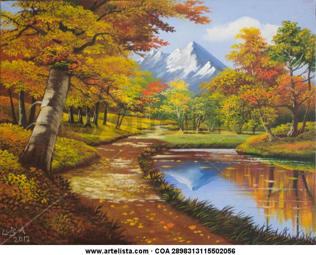 Paisaje de otoño Lienzo Óleo Paisaje