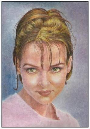 Magdalena Pastel Cartulina Retrato