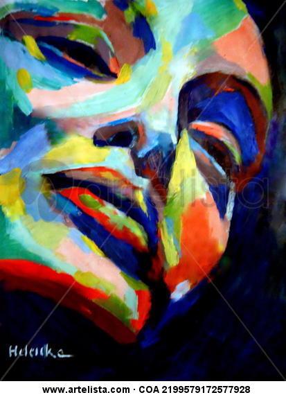 Reflexiones otoñales Lienzo Acrílico Retrato