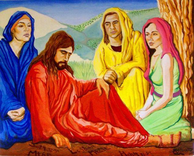 Jesús de Nazaret o el Gran Maestro Socialista Óleo Tabla Figura