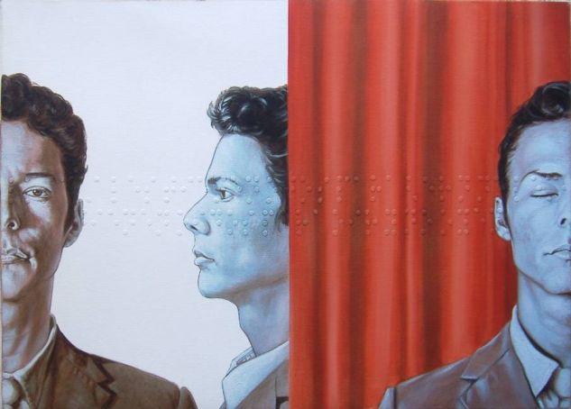 Diálogo unidireccional o la sospecha del otro Óleo Lienzo Retrato