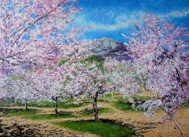 Almendros en flor Lienzo Óleo Paisaje