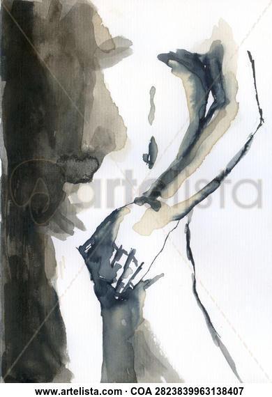 Mano 004 Desnudos Tinta Papel