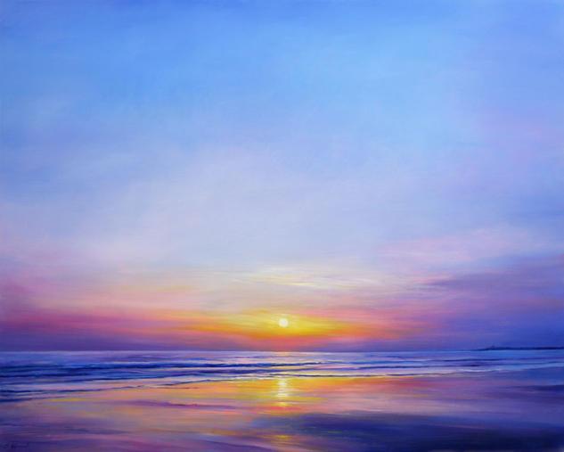 Sunset Tabla Óleo Paisaje
