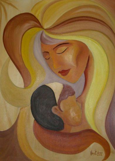 Madre e Hijo Lienzo Óleo Figura