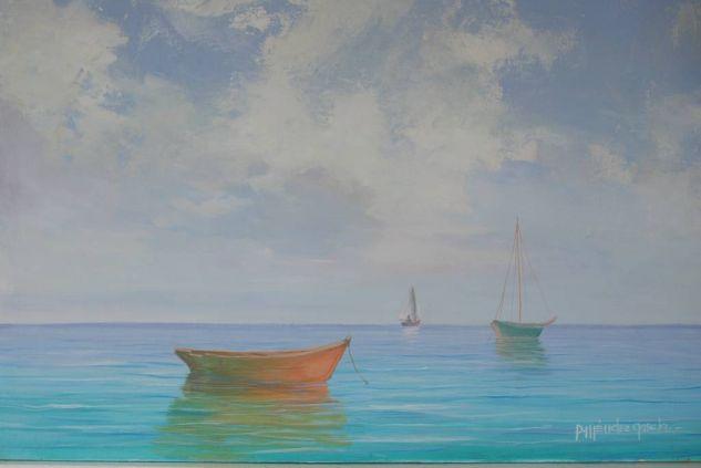 calma total Acrílico Lienzo Marina
