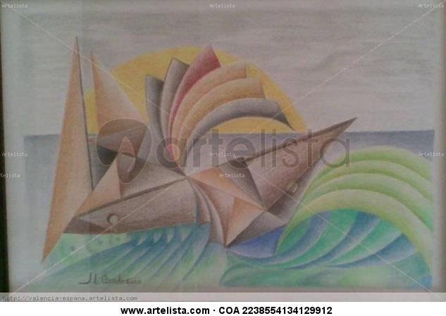 Regatas Lápiz (a color) Papel Marina