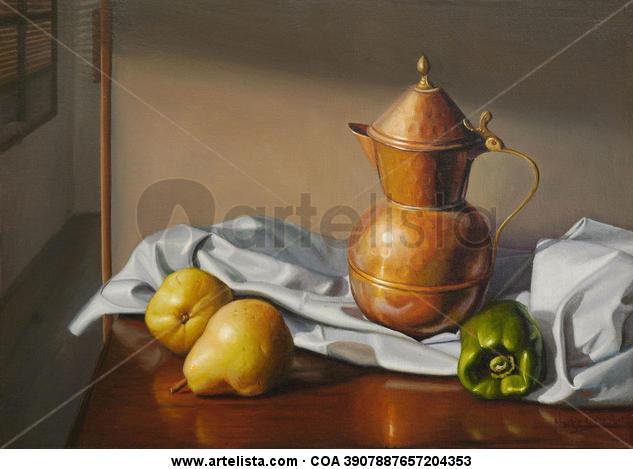 Bodegón con frutas Lienzo Óleo Bodegones