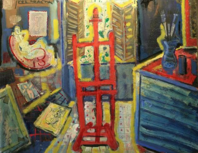 The studio in Paris Oil Canvas Others