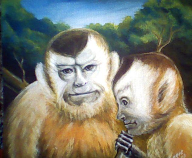Capuchinos Tabla Acrílico Animales